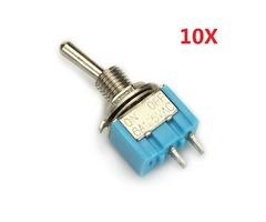 Wendao MTS-101 ON/OFF AC 125V 6A 2 Pins Toggle Rocker Switch 10pcs