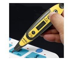 12-250V AC DC Digital Voltage Detector Tester Pen LED Light Electric Sensor