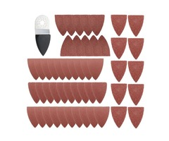 51pcs Finger Sanding Sheets Pads Paper Set For Fein Multimaster Bosch Oscillating Multitool | Free-Classifieds.co.uk