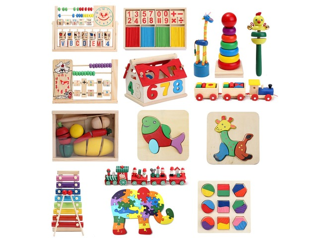 Wooden Block Puzzle Educational Toy Kids Music Math Study With Joy Gift   Free-Classifieds.co.uk