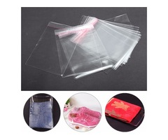 100Pcs A4 Clear Cellophane Display Bags Self Adhesive Seal Ring Plastic OPP | Free-Classifieds.co.uk