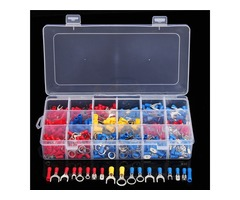 520pcs Assorted Crimp Electrical Splice Spade Ring Fork Terminal Wire Connectors