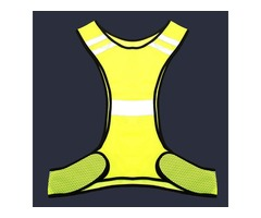 Fluorescent Yellow High Visibility Reflective Vest Security Night Work Equipment