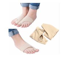 1pair Big Toe Bunion Pad Hallux Valgus Protector Corrector Sleeves Elastic