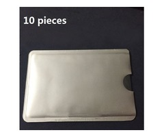 10pcs RFID Shielded Sleeve Card Blocking 13.56MHz IC Card NFC Security Card Prevent Unauthorized