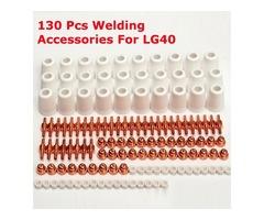 130pcs PT-31 LG40 Air LG40 Plasma Cutting Cutter Accessories Electrode Nozzle