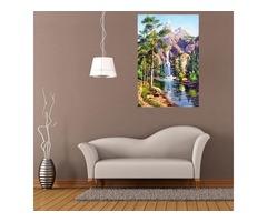 16x12 Inches 5D Diamond Painting Landscape Scenery Craft DIY Cross Stitch Home Decor