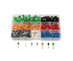 600Pcs Wire Copper Connector Insulated Cord Pin End Crimp Terminal 22-10AWG Kits