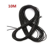 10M Black Thread Elastic Cord Round String Thong
