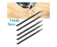 5pcs HCS T Shank Saw Blades Wood Plastics Plywood Cuttingtools for Jigsaw